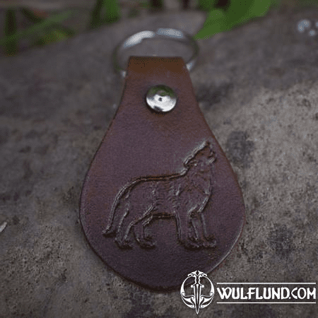 WOLF, KEYRING, LEATHER