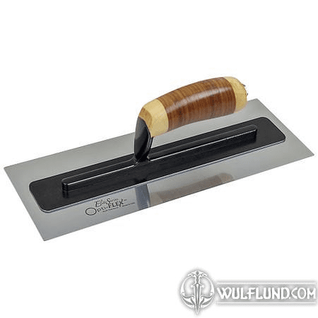 "ELITE SERIES FIVE STAR™ 14"" X 5"" OPTI-FLEX™ STAINLESS STEEL TROWEL WITH A LEATHER HANDLE"