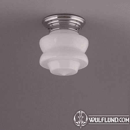 SMALL TOP, CEILING LAMP, NICKLE ANGULAR FIXTURE