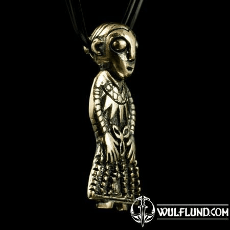 FREYA FROM REVNINGE, VIKING PENDANT, BRONZE