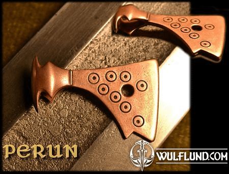 AXE OF PERUN, BRONZE SLAVIC TALISMAN