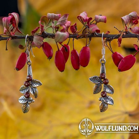 CRANBERRIES, EARRINGS, SILVER