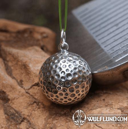 GOLF BALL, SILVER PENDANT