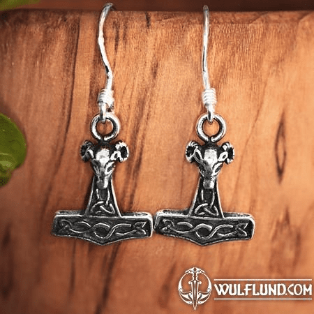 THOR'S HAMMER, SILVER EARRINGS