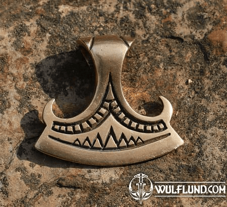 PERUN'S BEARDED AXE, BRONZE PENDANT