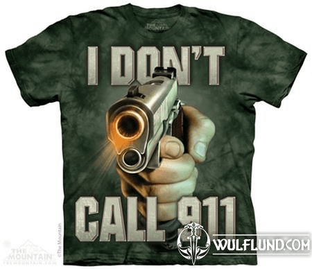 CALL 911 - GUN T-SHIRT, THE MOUNTAIN