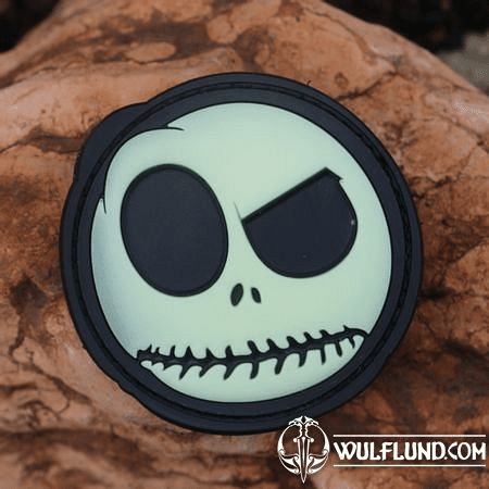 SKULL RUBBER VELCRO PATCH