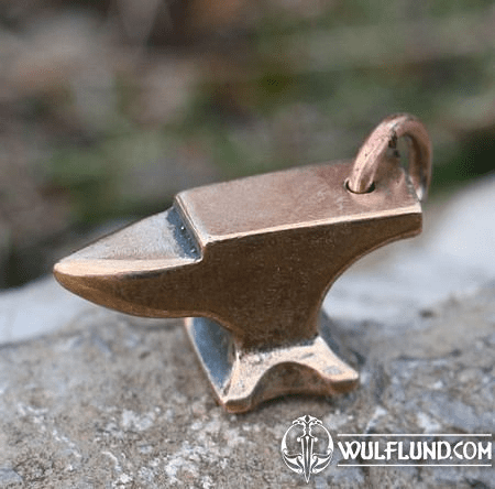 SMITH'S ANVIL, BRONZE PENDANT