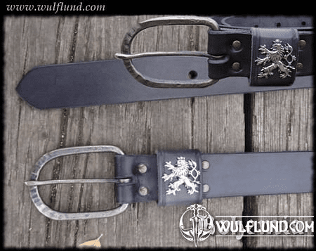 KINGDOM OF BOHEMIA, EXCLUSIVE LEATHER BELT, BLACK