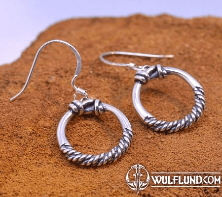 VIKING RINGS, STERLING SILVER EARRINGS