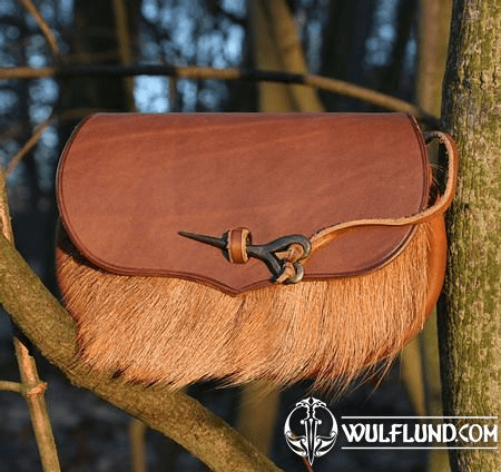 BELT BAG WITH BOAR FUR AND FORGED NEEDLE