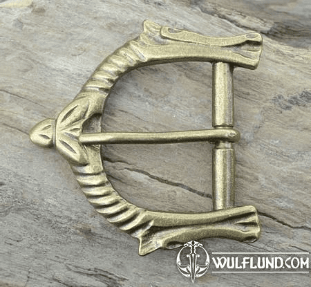 SLEIPNIR, VIKING BELT BUCKLE, BRASS COLOUR