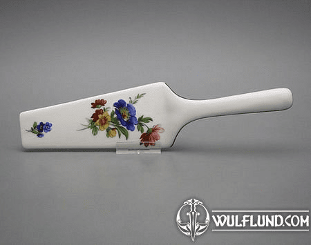 PORCELAIN CAKE OR PIE SERVER - FLOWERS
