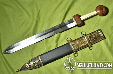 GLADIUS SWORD WITH DECORATED SCABBARD