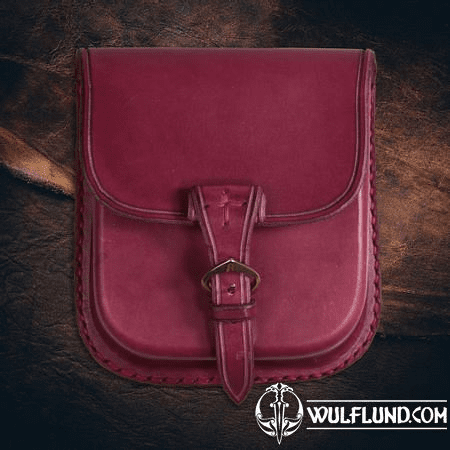 GENTLEMAN, LEATHER BELT BAG - RED