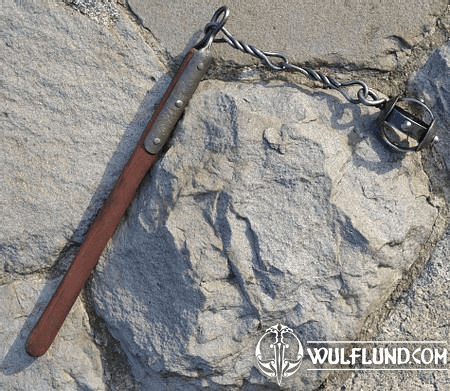 FORGED FLAIL, REPLICA OF A MEDIEVAL WEAPON