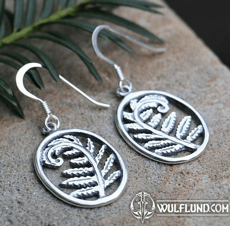 FERN, SILVER EARRINGS