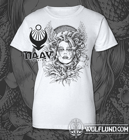 MEDUSA, LADIES' T-SHIRT, B&W