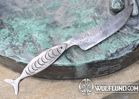 FISH, HAND FORGED KNIFE