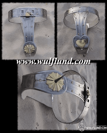 CHASTITY BELT WITH BRASS, INTERIOR DECORATION