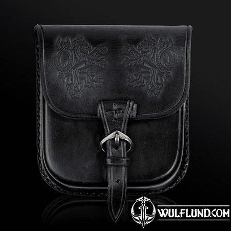 BOHEMIA, LEATHER BELT BAG - BLACK