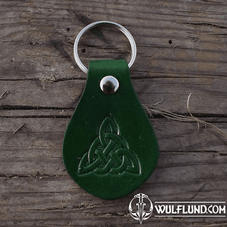 KEYCHAIN - TRIQUETRA, LEATHER