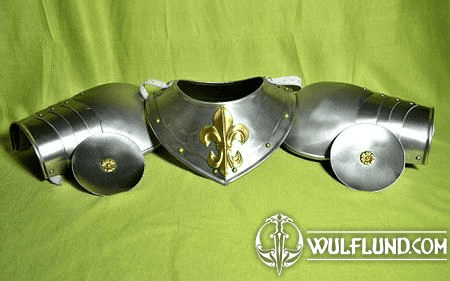 SPAULDERS AND GORGET WITH FLEUR DE LIS