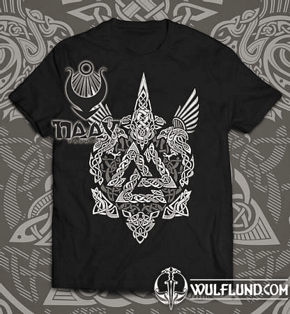 VALKNUT - VIKING MEN'S T-SHIRT B&W