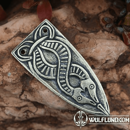 SLEIPNIR, VIKING STRAP END, ZINC