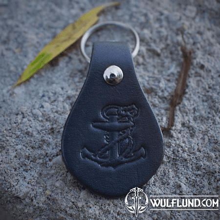 ANCHOR, KEYCHAIN, LEATHER