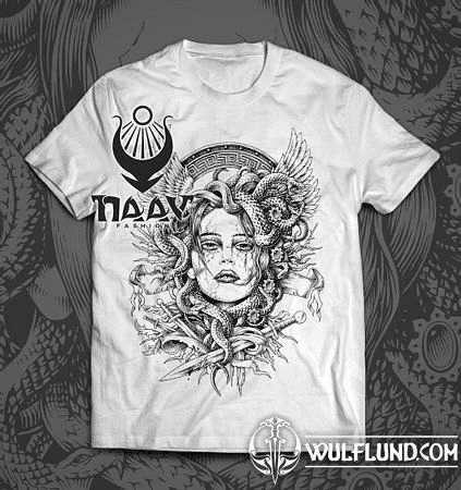 MEDUSA, MEN'S T-SHIRT, B&W