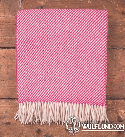 PINK & WHITE STRIPE THROW, IRELAND