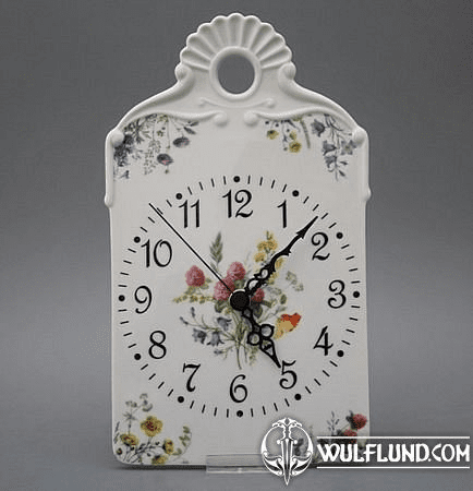 PORCELAIN CLOCKS, FLOWERING MEADOW