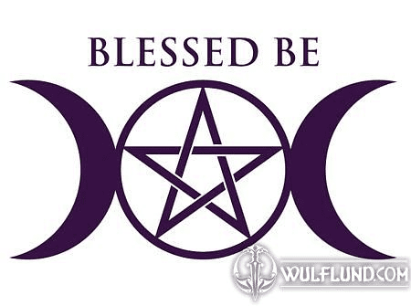 BLESSED BE, WICCAN CAR STICKER
