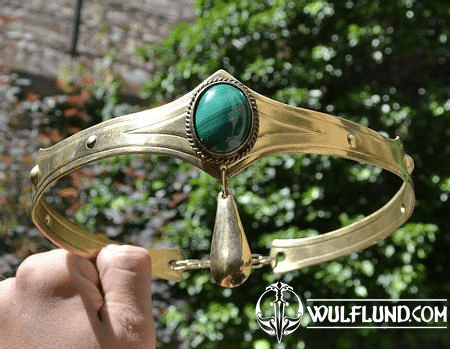 NORICA - MEDIEVAL GOTHIC CROWN WITH MALACHITE
