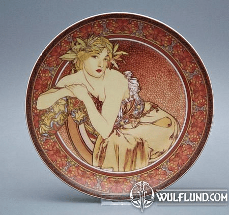 PLATE ALPHONSE MUCHA - IN LOVE