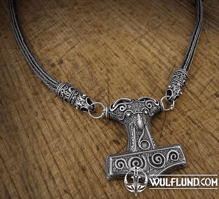 THOR'S HAMMER, SCANIA, VIKING KNIT, SILVER NECKLACE