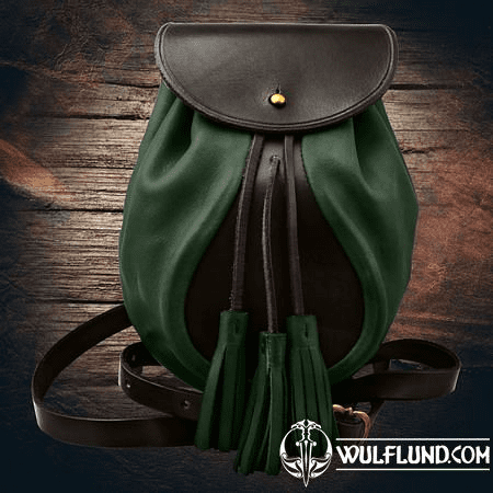 SULLIVAN, SCOTTISH SPORRAN, GREEN WITH BELT