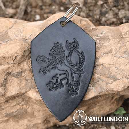 LION - COAT OF ARMS - KEY RING BLACK