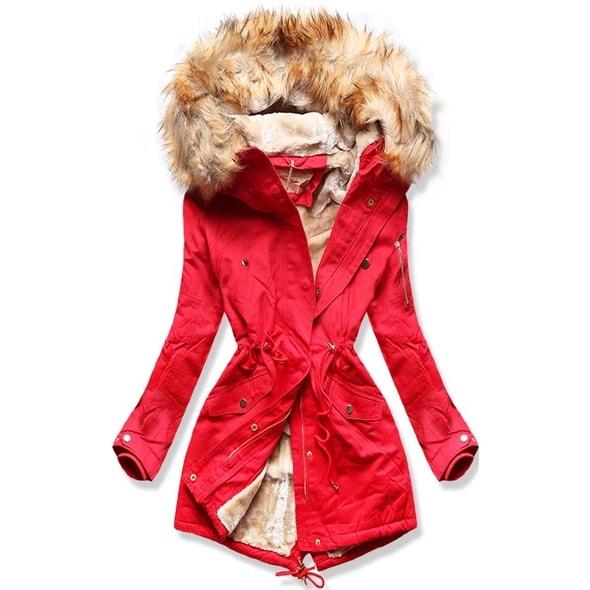 Dámska zimní bunda B506 červená