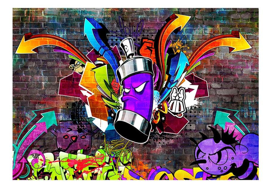 fototapet  graffiti colourful attack  dovidoro