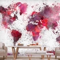 FOTOTAPET - WORLD MAP: RED WATERCOLORS - TAPET HĂRȚI{% if kategorie.adresa_nazvy[0] != zbozi.kategorie.nazev %} - TAPETURI{% endif %}