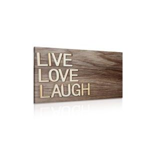 Slika LIVE, LOVE, LAUGH