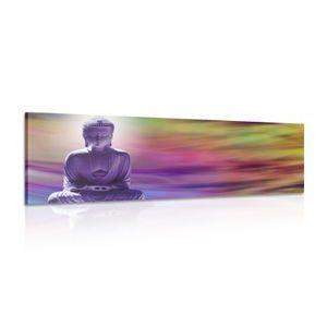 Tablou Buddha pe un fundal abstract