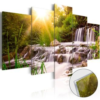 Slika na akrilnom staklu - Forest Waterfall [Glass]