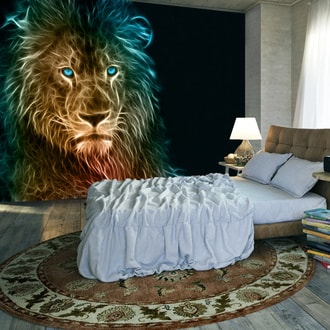 Foto tapeta - Abstract lion