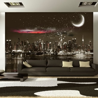 Fototapeta hviezdna noc nad New Yorkom - Starry Night Over NY