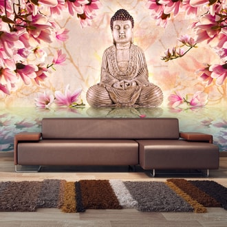 Foto tapeta - Buddha and magnolia