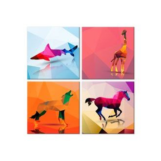 Slika - Geometric Animals (4 Parts)