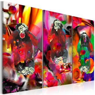 Kép - Crazy Monkeys - triptych